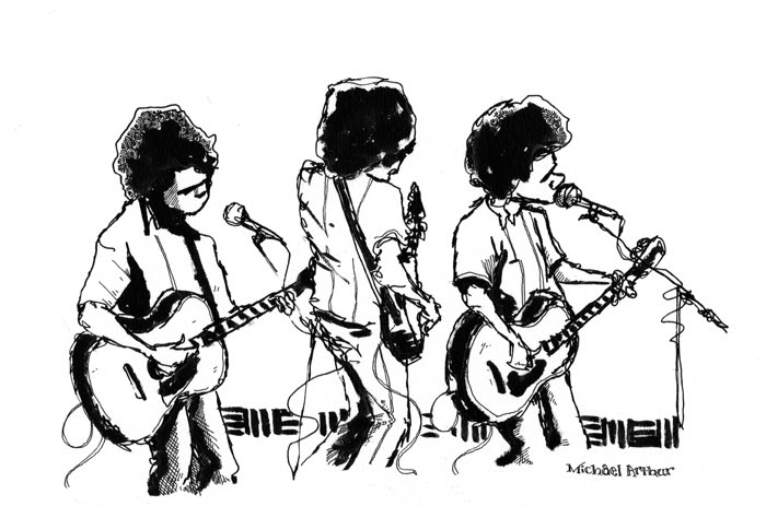 drawing by Michael Arthur from a show at Joe's Pub